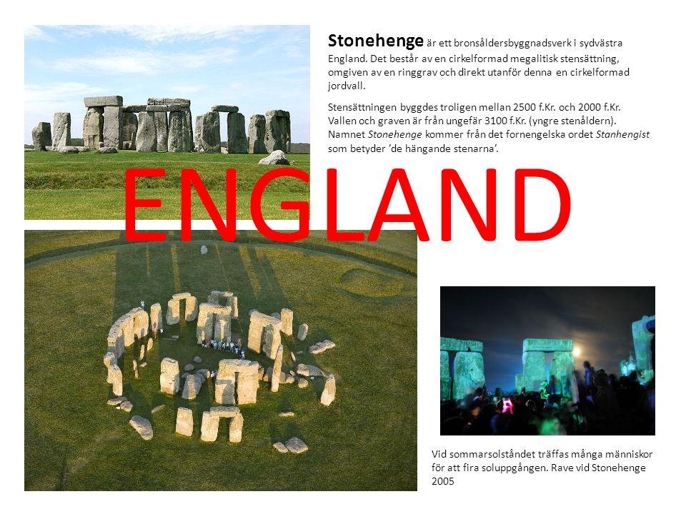 Stonehenge är ett bronsåldersbyggnadsverk i sydvästra England
