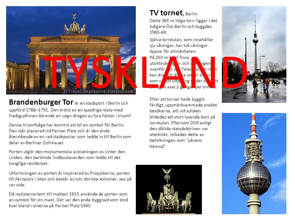 TYSKLAND TV tornet, Berlin