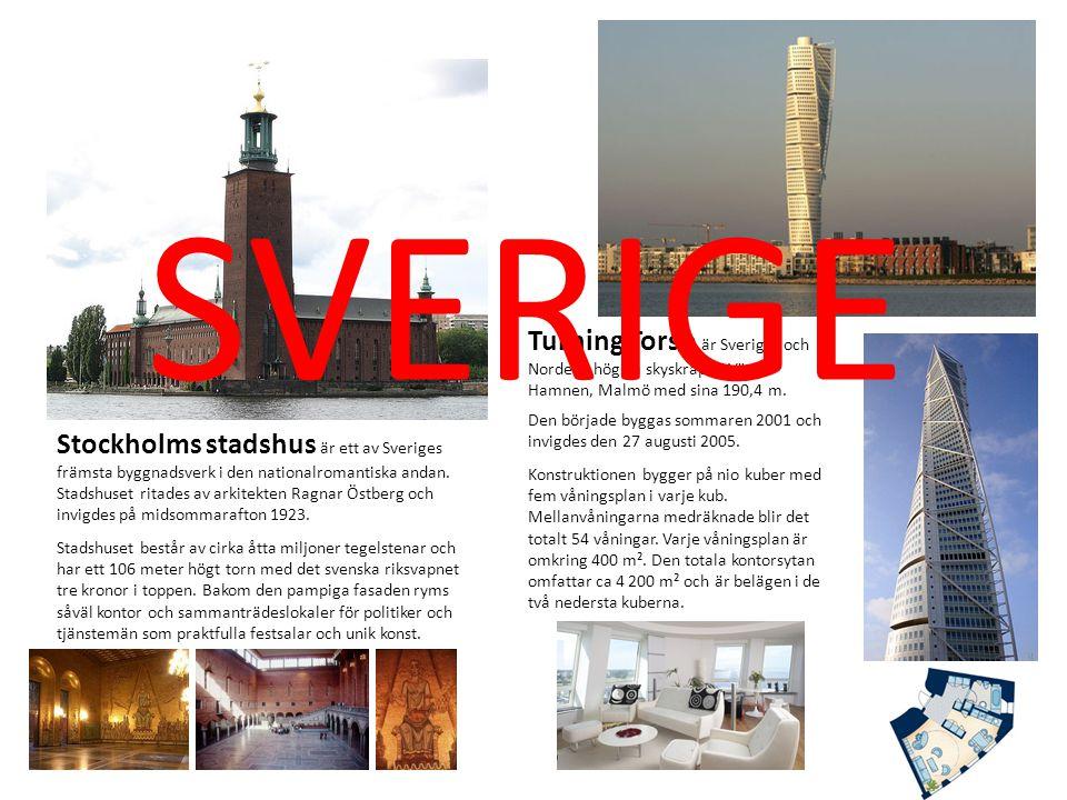 SVERIGE Turning Torso är Sveriges och Nordens högsta skyskrapa i Västra Hamnen, Malmö med sina 190,4 m.