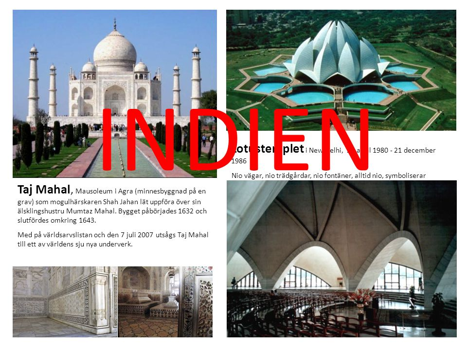 INDIEN Lotustemplet i New Delhi, 21 april 1980 - 21 december 1986