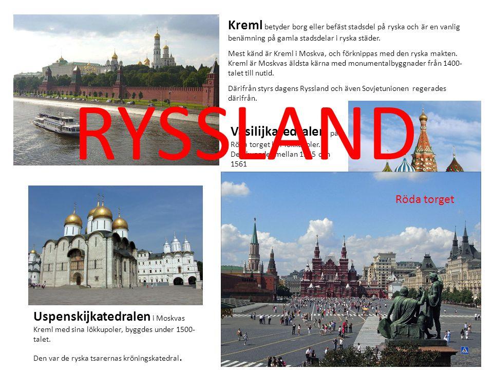 Kreml betyder borg eller befäst stadsdel på ryska och är en vanlig benämning på gamla stadsdelar i ryska städer.