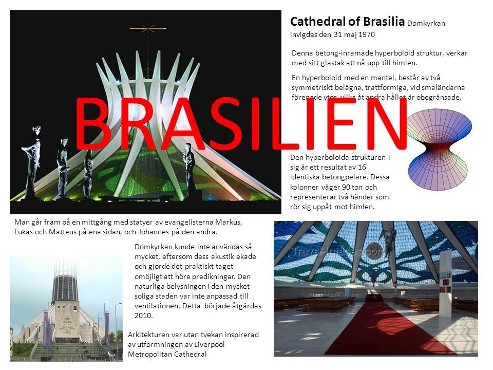 BRASILIEN Cathedral of Brasilia Domkyrkan invigdes den 31 maj 1970