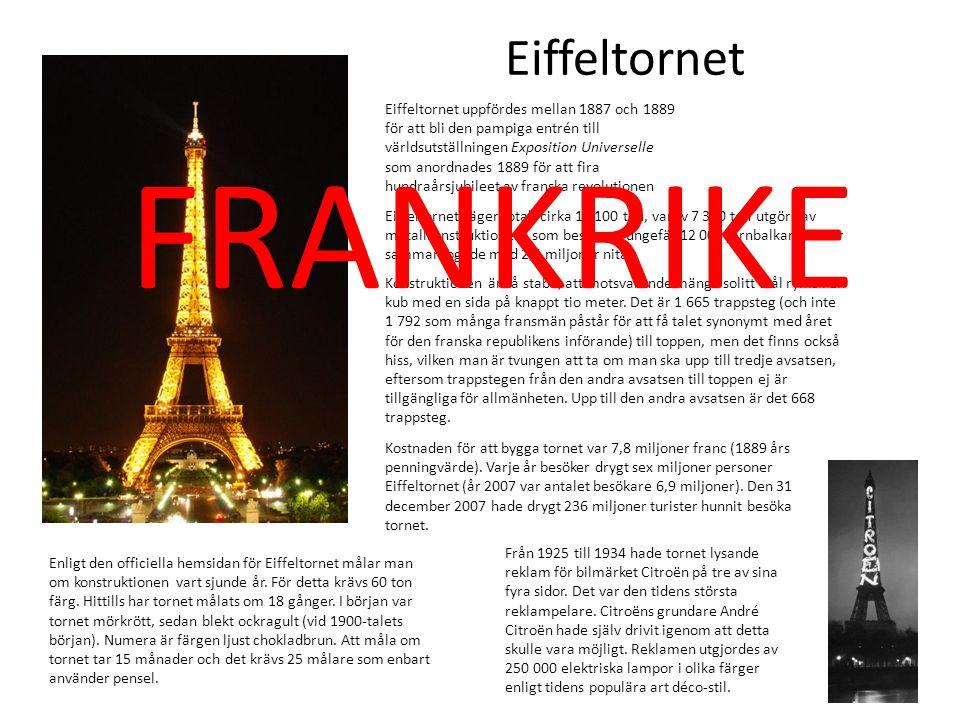 FRANKRIKE Eiffeltornet
