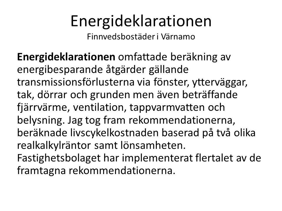 Energideklarationen Finnvedsbostäder i Värnamo