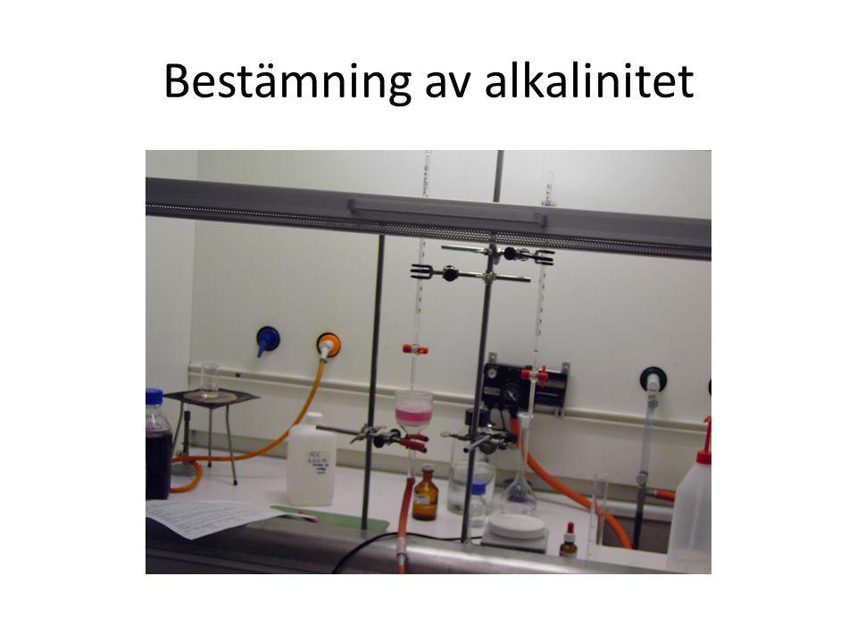 Bestämning av alkalinitet