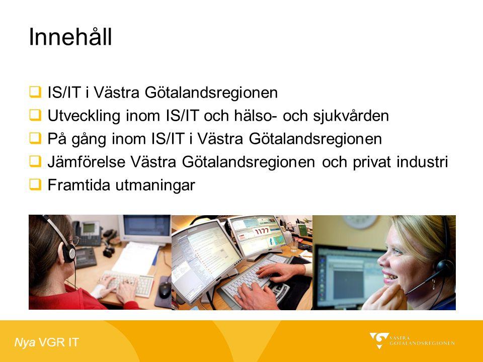 Innehåll IS/IT i Västra Götalandsregionen