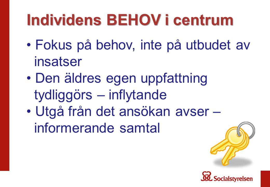 Individens BEHOV i centrum