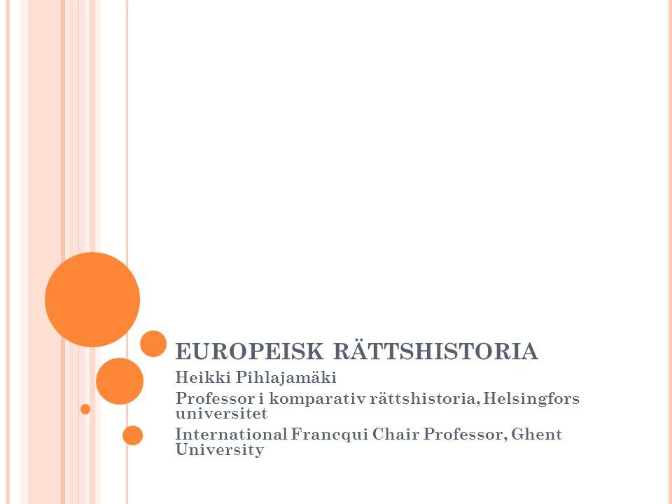 europeisk rättshistoria