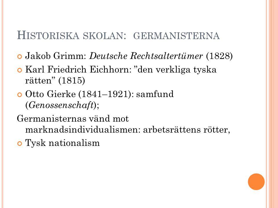 Historiska skolan: germanisterna