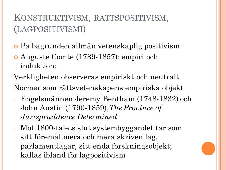Konstruktivism, rättspositivism, (lagpositivismi)