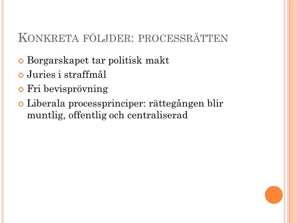 Konkreta följder: processrätten