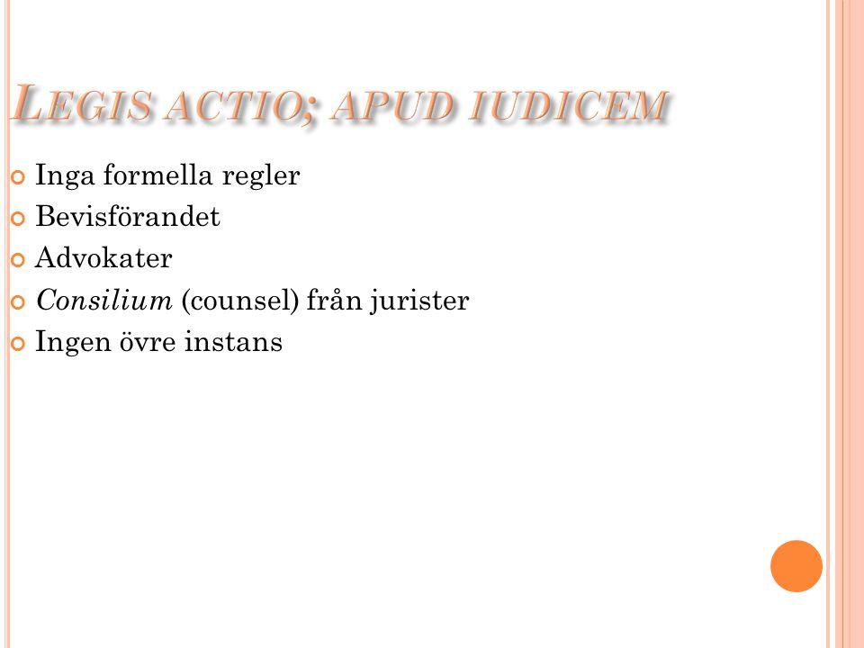 Legis actio; apud iudicem