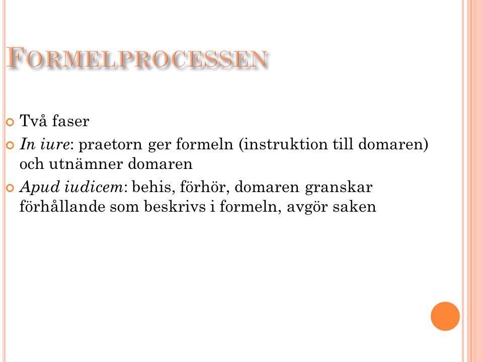 Formelprocessen Två faser
