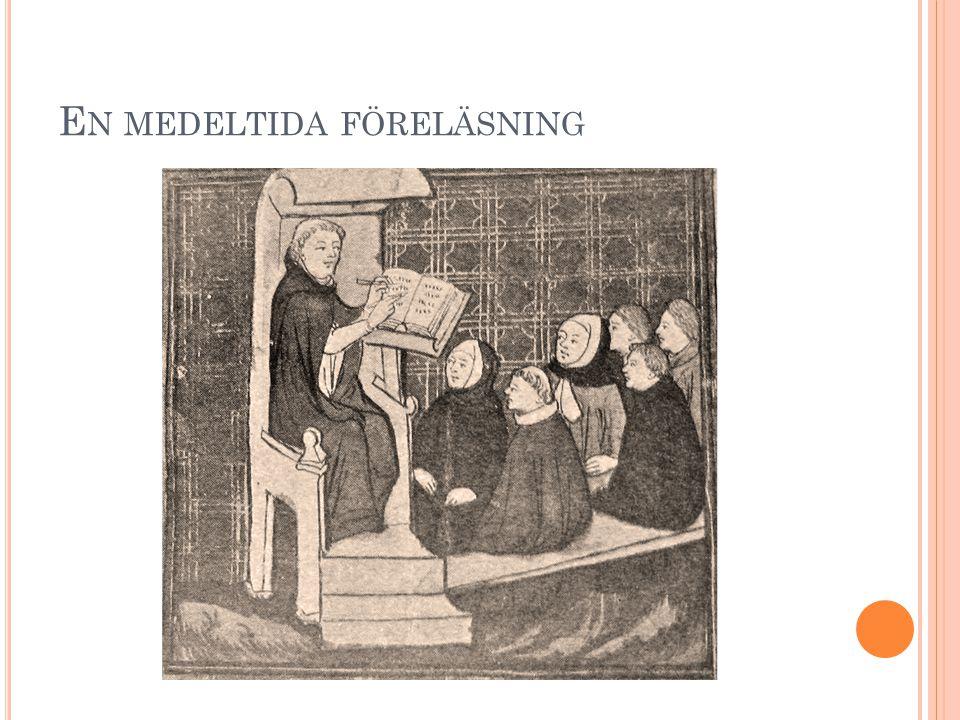 En medeltida föreläsning