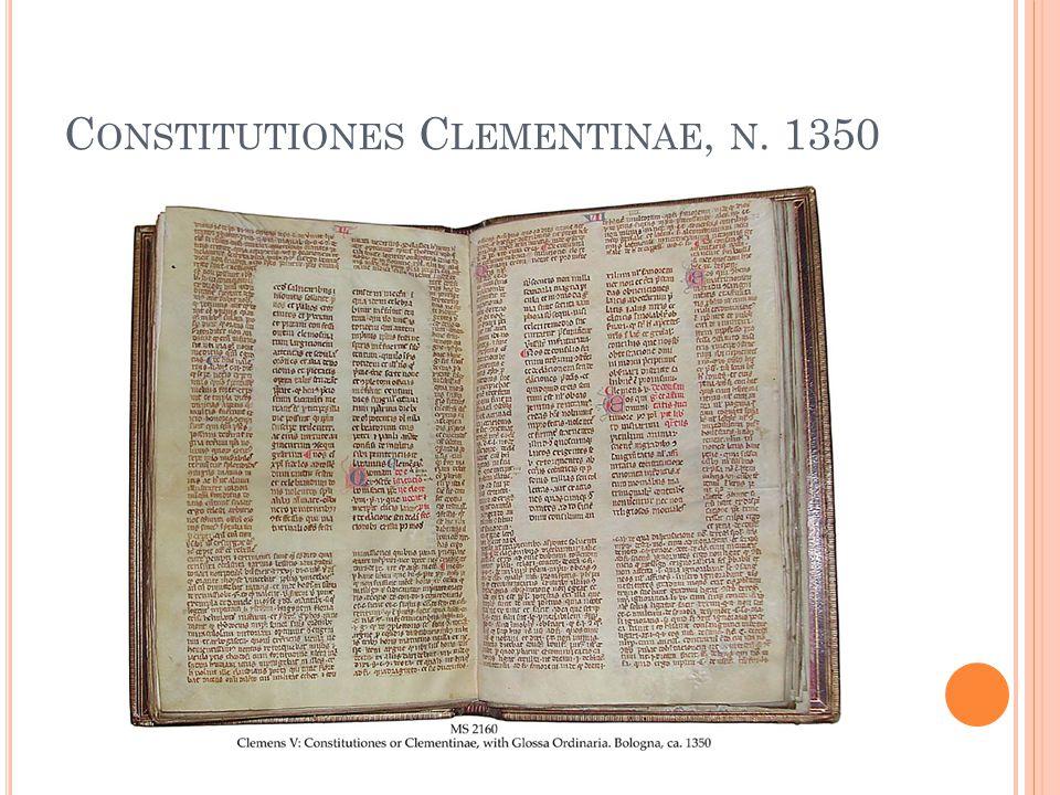 Constitutiones Clementinae, n. 1350