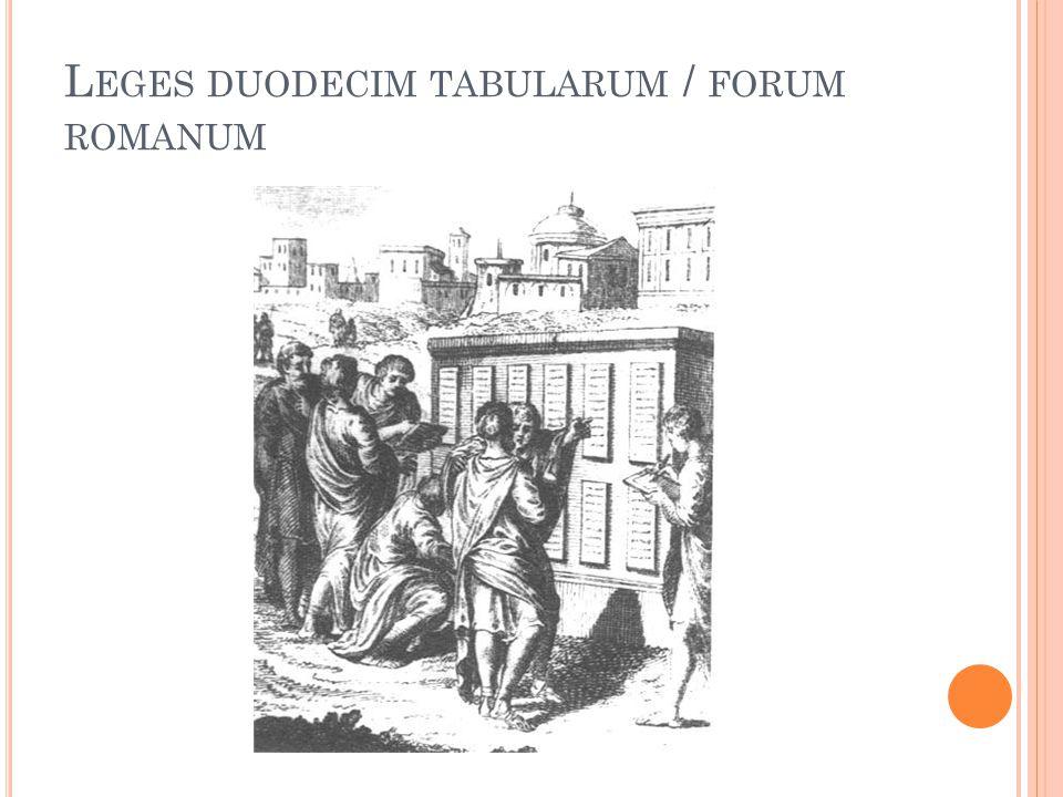 Leges duodecim tabularum / forum romanum