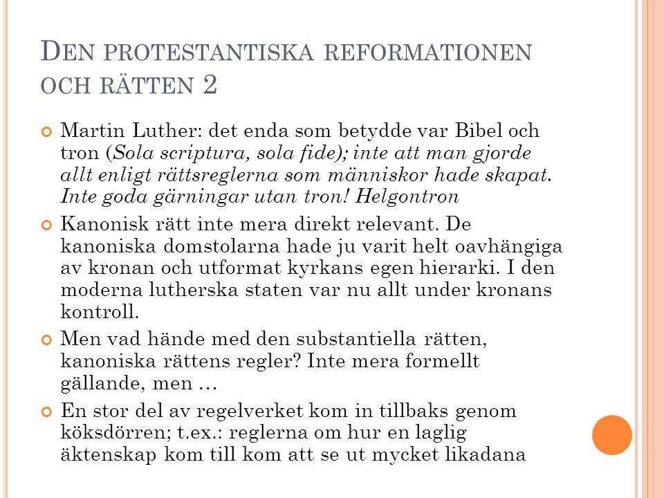 Den protestantiska reformationen och rätten 2
