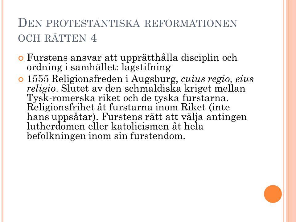 Den protestantiska reformationen och rätten 4
