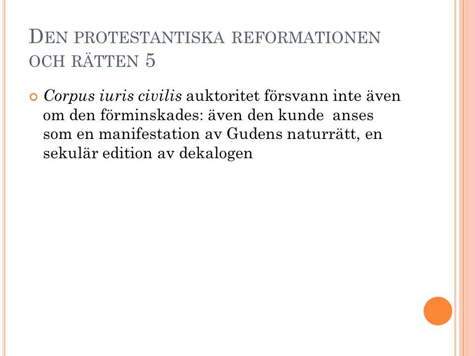 Den protestantiska reformationen och rätten 5