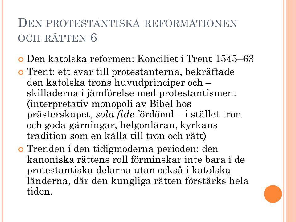Den protestantiska reformationen och rätten 6