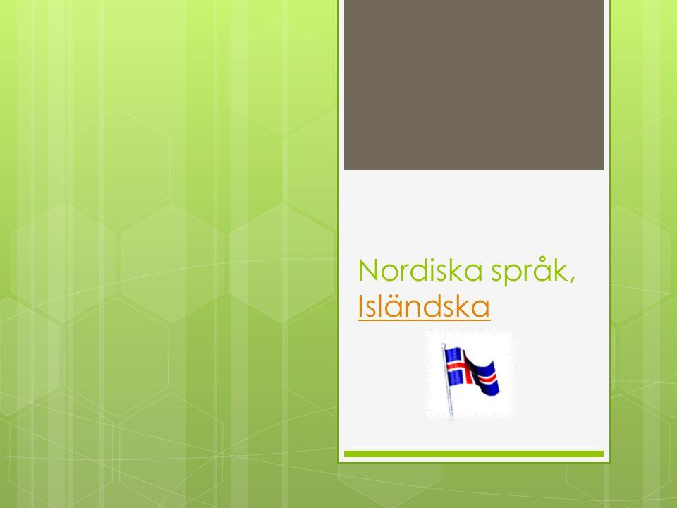 Nordiska språk, Isländska