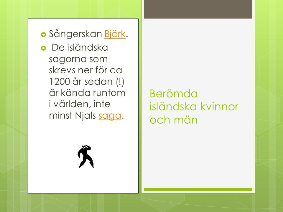 Berömda isländska kvinnor och män