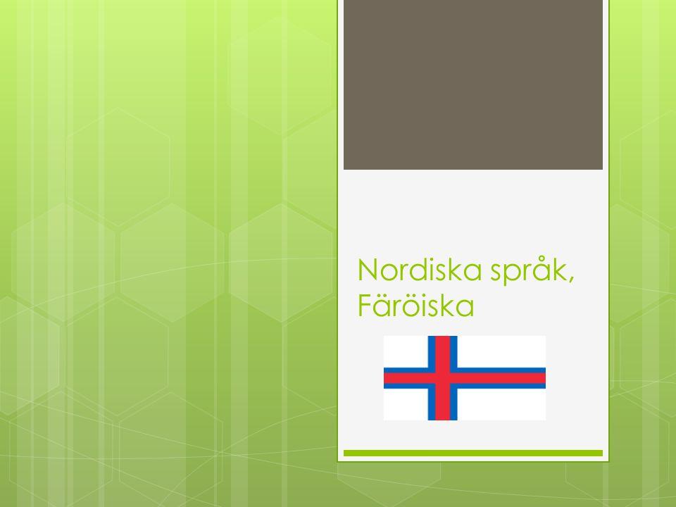Nordiska språk, Färöiska