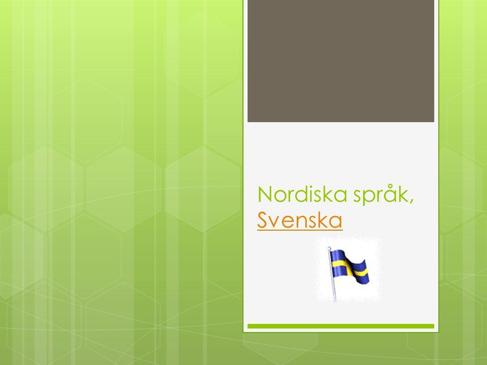 Nordiska språk, Svenska