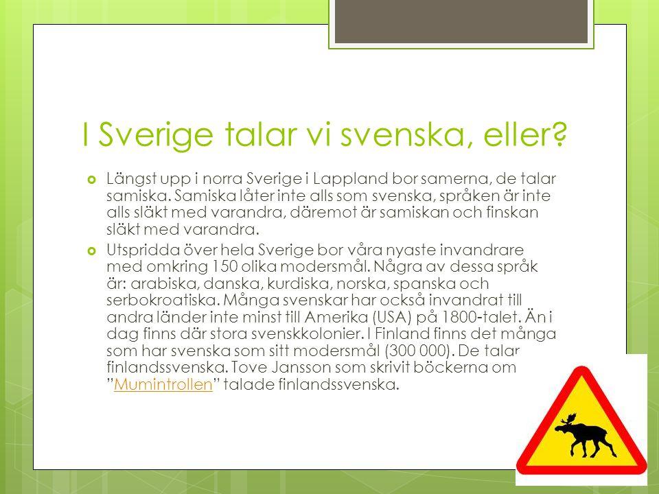 I Sverige talar vi svenska, eller