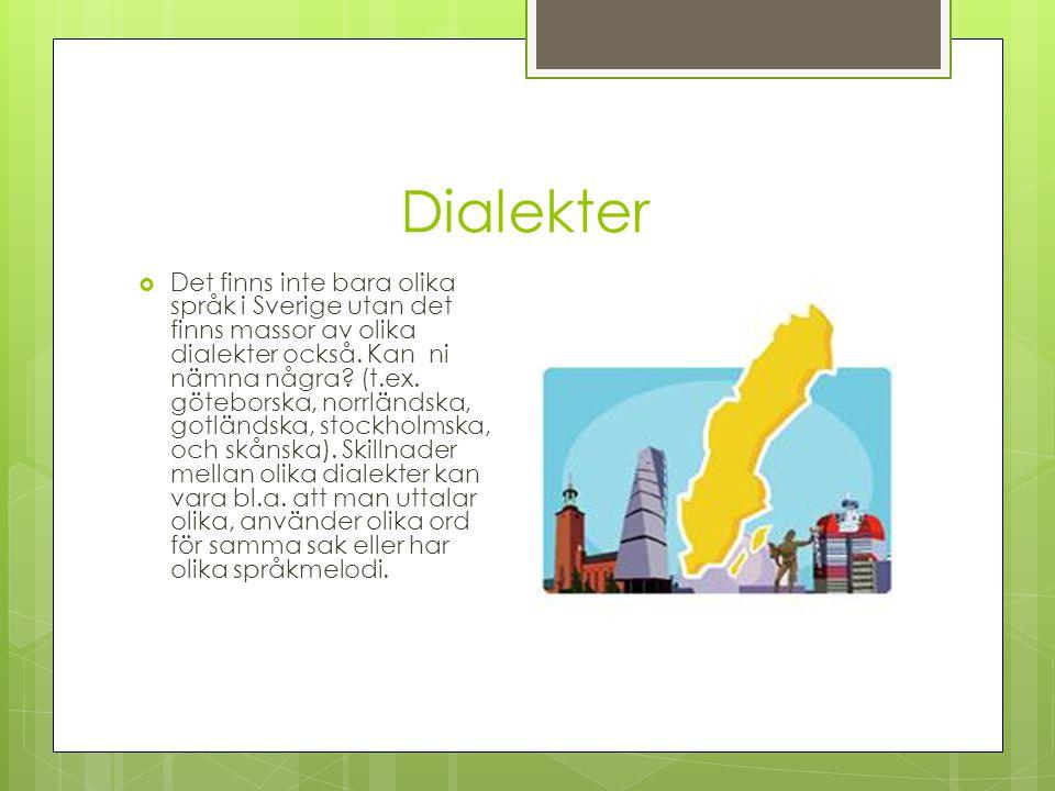 Dialekter