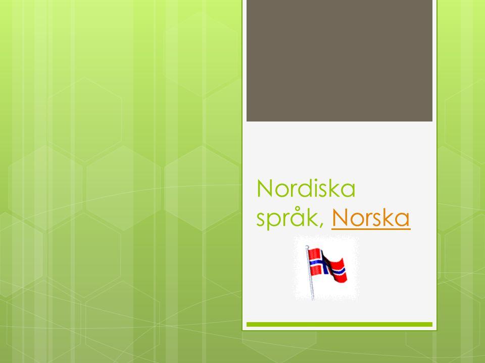 Nordiska språk, Norska