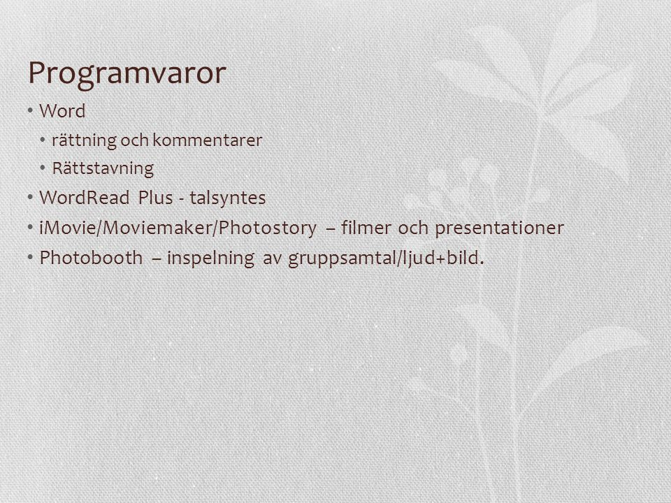 Programvaror Word WordRead Plus - talsyntes