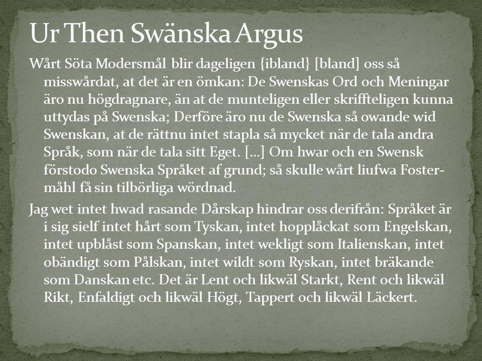 Ur Then Swänska Argus