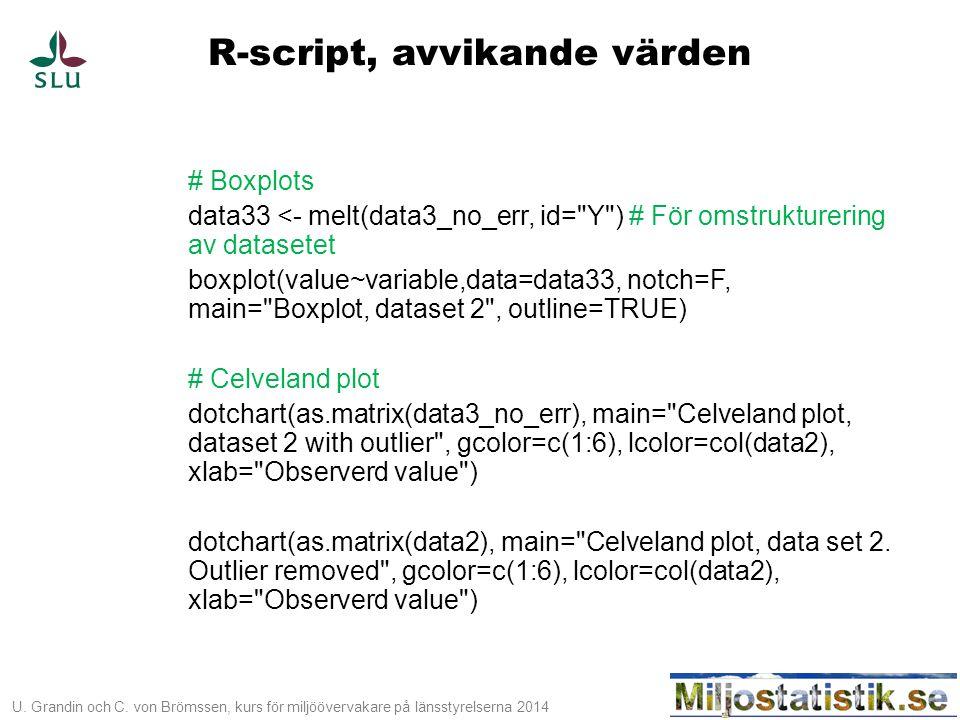 R-script, avvikande värden