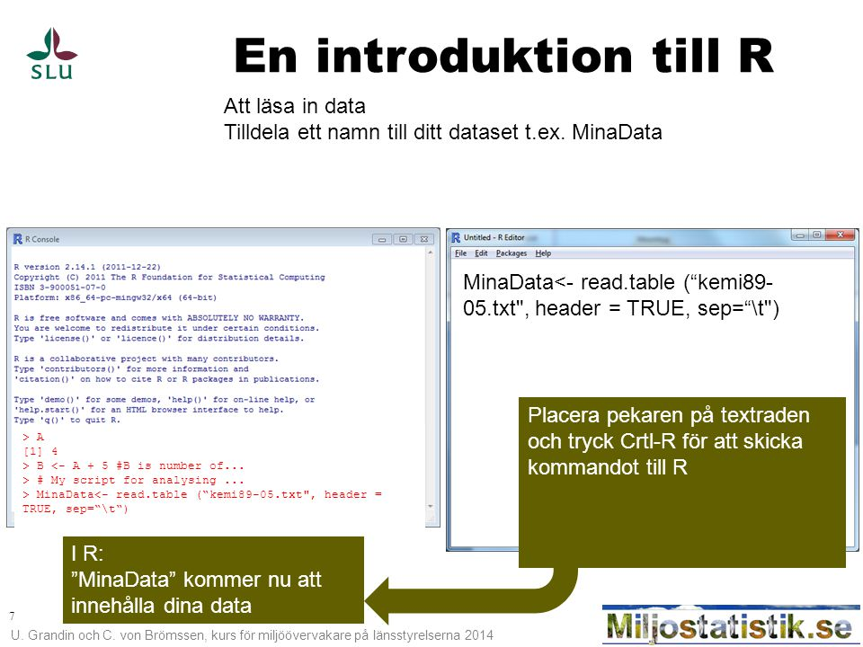 En introduktion till R Att läsa in data