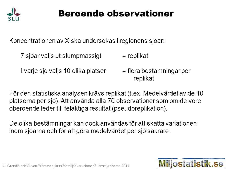 Beroende observationer