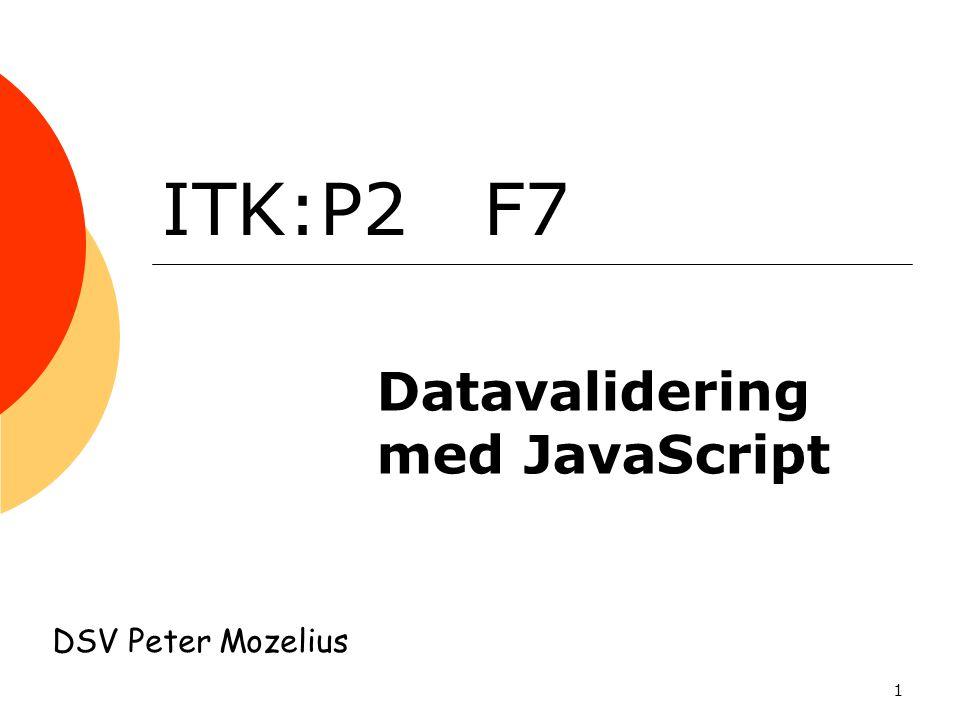 Datavalidering med JavaScript