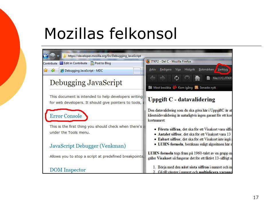 Mozillas felkonsol