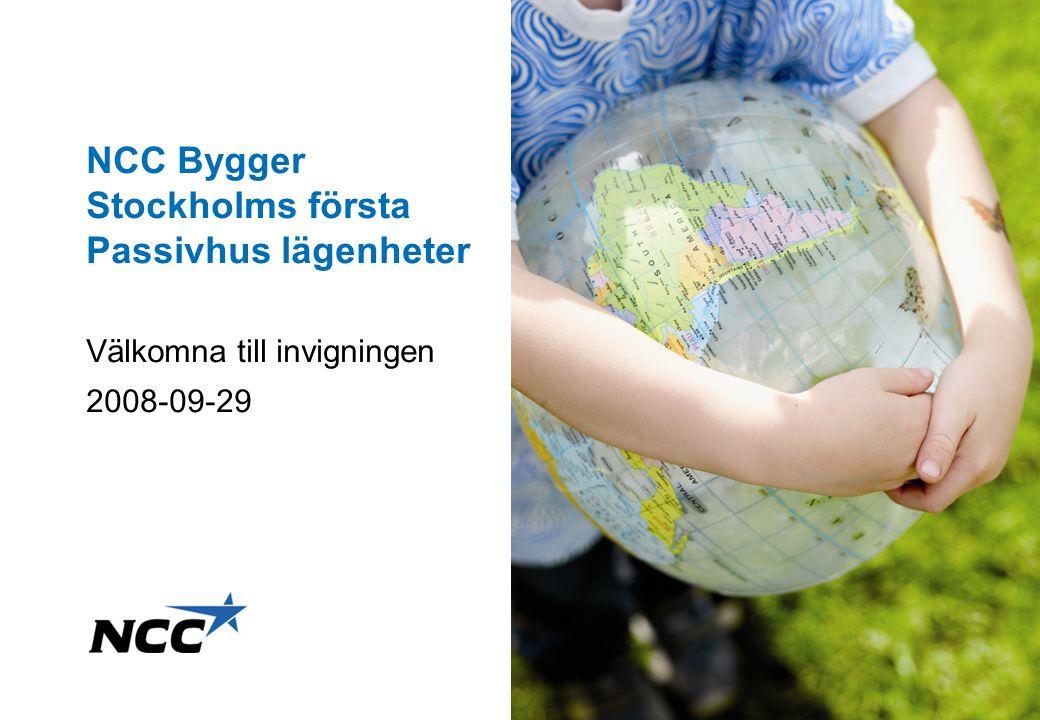 NCC Bygger Stockholms första Passivhus lägenheter