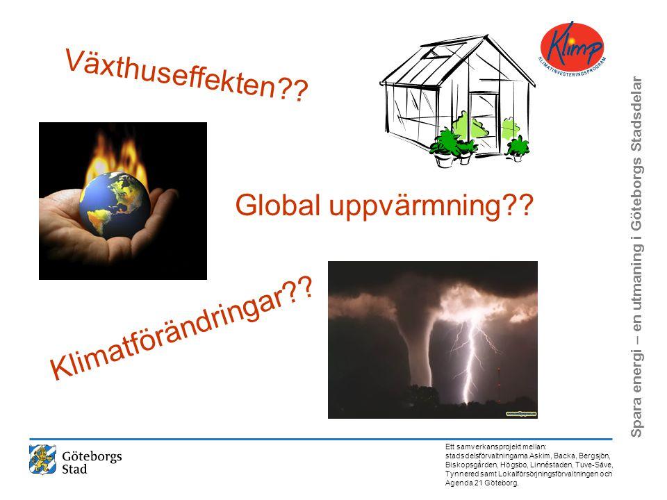 Växthuseffekten Global uppvärmning Klimatförändringar