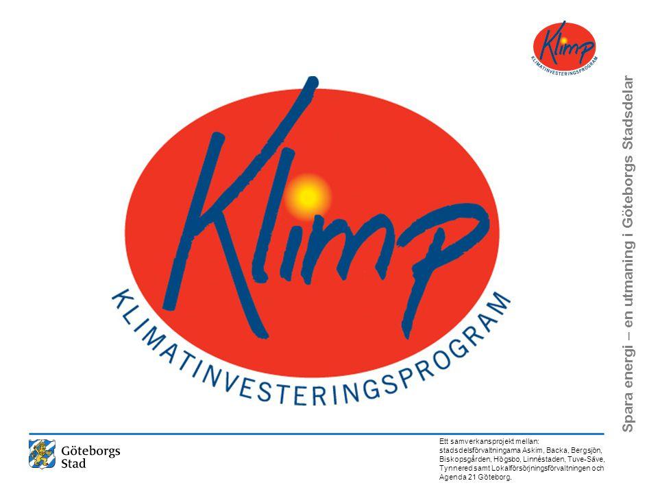 Vi har ansökt om och beviljats projektmedel från KLIMATINVESTERINGSPROGRAMMET
