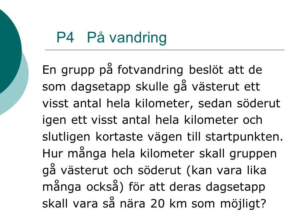 P4 På vandring En grupp på fotvandring beslöt att de