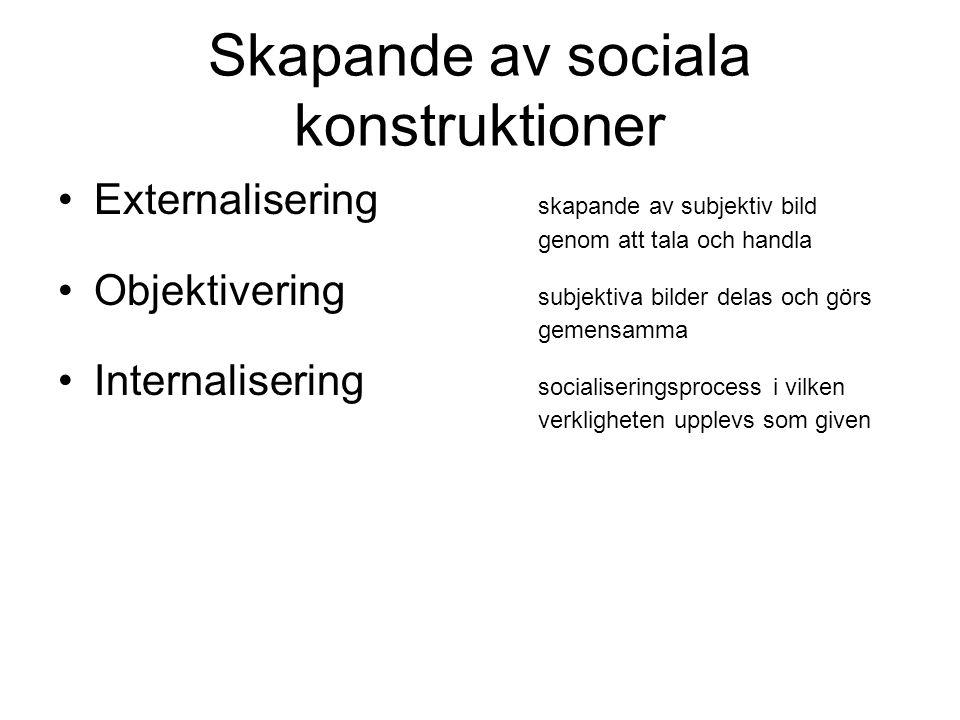 Skapande av sociala konstruktioner