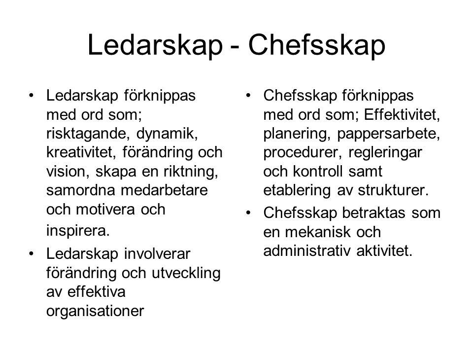 Ledarskap - Chefsskap