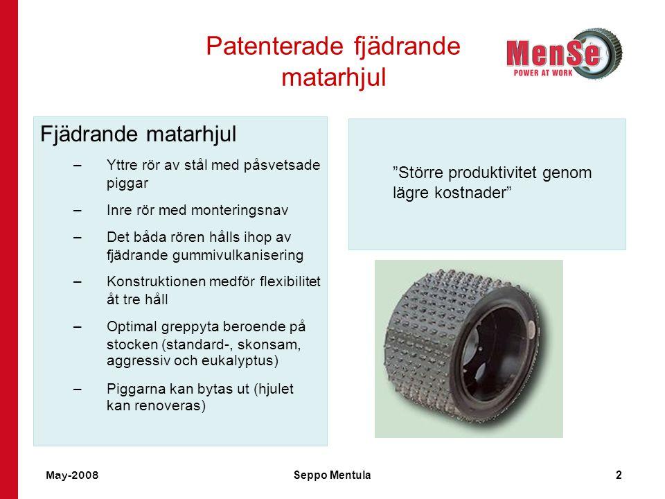 Patenterade fjädrande matarhjul
