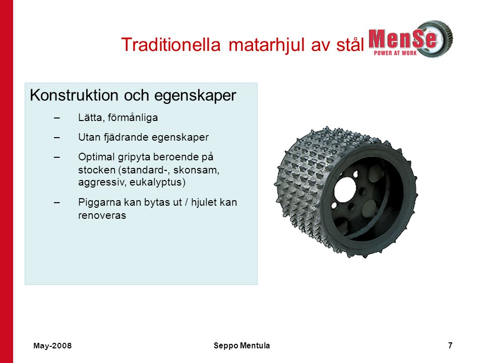 Traditionella matarhjul av stål