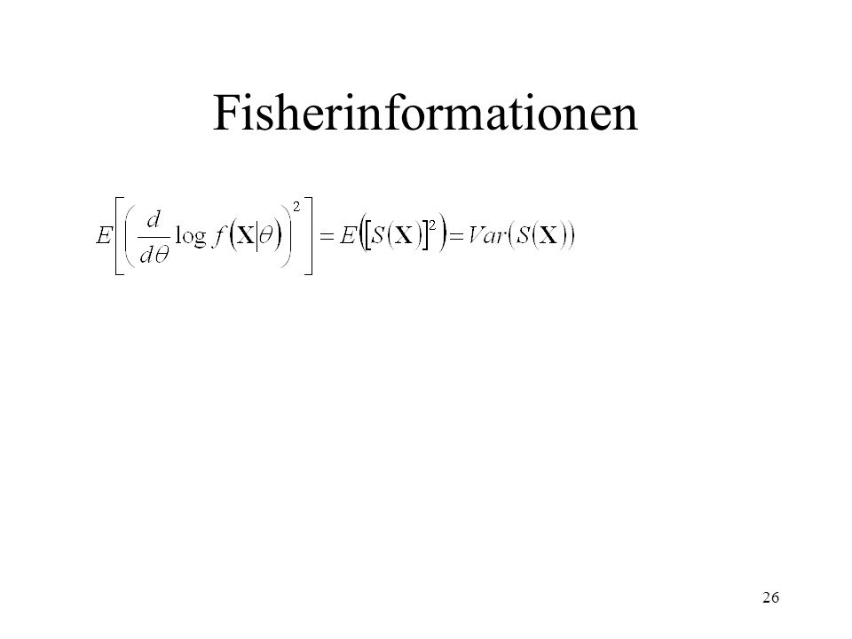 Fisherinformationen