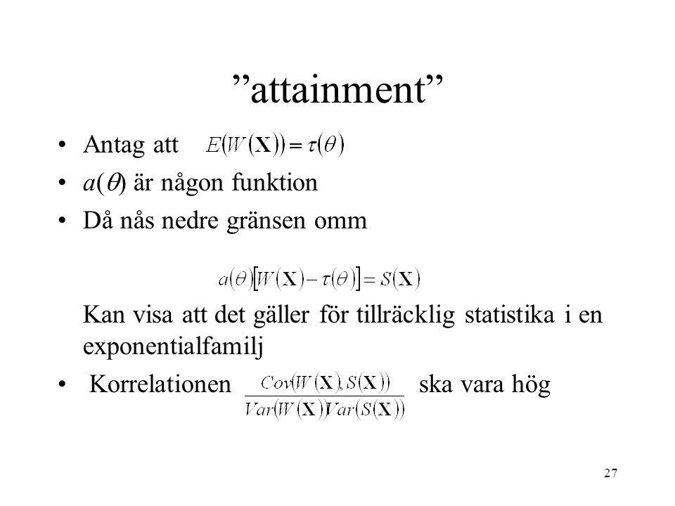 attainment Antag att a() är någon funktion