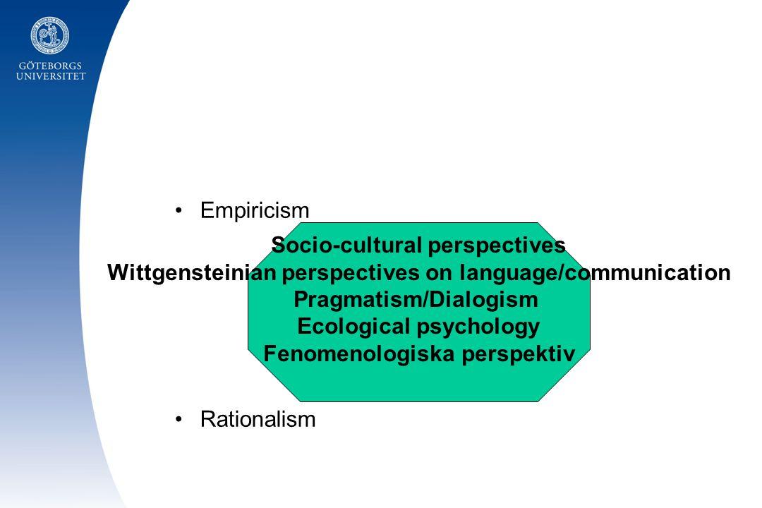 Socio-cultural perspectives