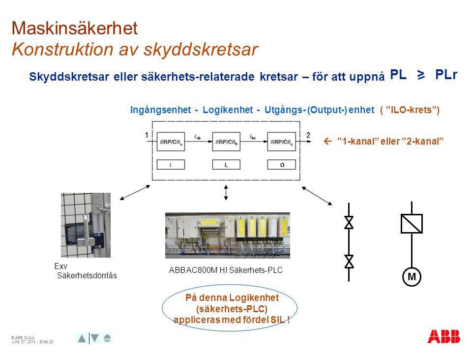 Maskinsäkerhet Konstruktion av skyddskretsar